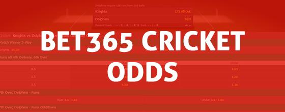 Bet365 Cricket Odds